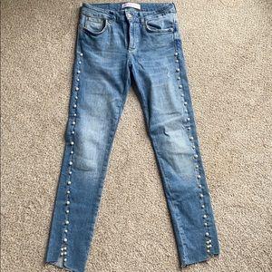 Zara pearl skinny jeans